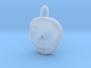 Skull Necklace/Earring pendant in Smooth Fine Detail Plastic