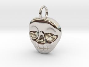 Skull Necklace/Earring pendant in Platinum