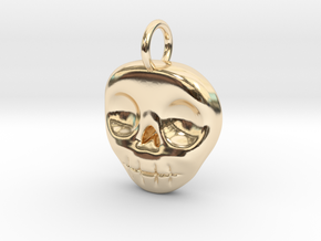 Skull Necklace/Earring pendant in 14k Gold Plated Brass