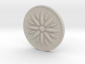 Sun Of Vergina Amulet in Natural Sandstone