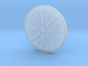 Sun Of Vergina Amulet in Smooth Fine Detail Plastic