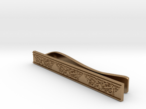Celtic Wolf Tie Bar in Natural Brass