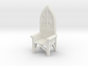 Gothic Chair 4 in White Strong & Flexible