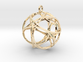 Hexagon Pendant in 14k Gold Plated Brass