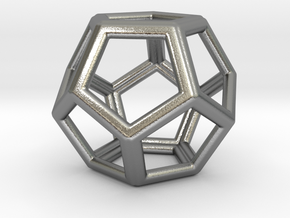 Dodecahedron LG in Natural Silver