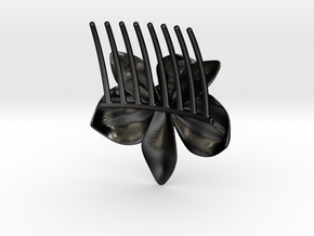 Orchid Comb in Matte Black Steel