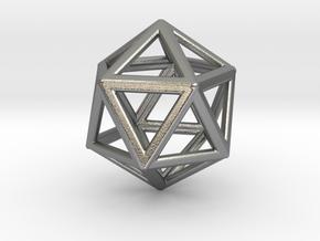 Icosahedron LG in Natural Silver