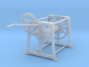 Crab (Hand) Winch in Smooth Fine Detail Plastic: 1:32