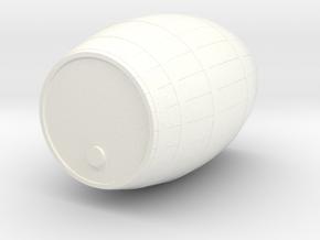 18th Century Barrel (13hx10dia) 1/24 in White Processed Versatile Plastic