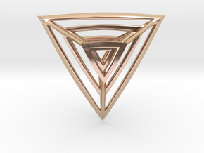 Triangulation Pendant in 14k Rose Gold