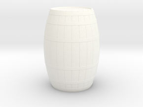 18th Century Barrel (21hx15dia) 1/24 in White Processed Versatile Plastic