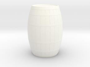 18th Century Barrel (21hx15dia) 1/24 in White Processed Versatile Plastic