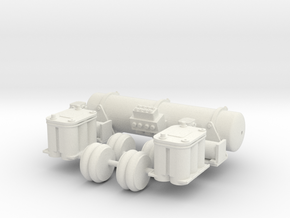 Accuair Dual Viair Kit 1/12 scale in White Natural Versatile Plastic