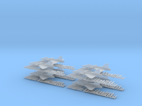 Saab Gripen JAS 39 - 8 pack 1/285 Scale in Frosted Extreme Detail