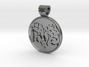Love is Forever, pendant in Polished Silver