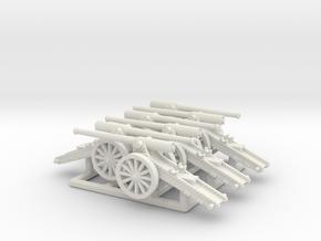 Boer War Long Tom (6mm 6-up) in White Natural Versatile Plastic