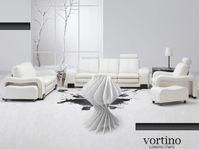 Vortex led lamp. in White Strong & Flexible Polished