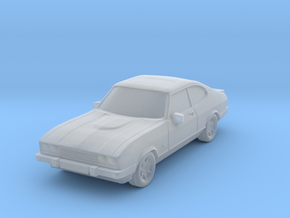 1:87 Ford capri mk3 ho scale 1mm hollow in Smooth Fine Detail Plastic