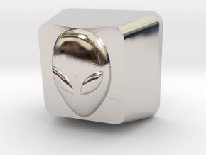Topre Alien Keycap in Platinum