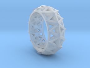 Brilliant Facets - Triangle Ring in Smooth Fine Detail Plastic