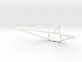 WX-37 Wessex Winch Frame  in White Strong & Flexible Polished