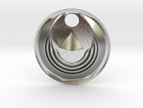 Winged Medallion 1 in Natural Silver