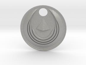 Winged Medallion 1 in Aluminum