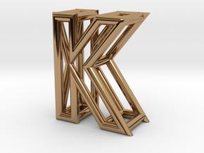 K in Polished Brass