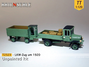 SET LKW-Zug um 1920 (TT 1:120) in Frosted Ultra Detail