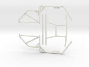 1/10 Scale Jeep Roll Cage in White Natural Versatile Plastic