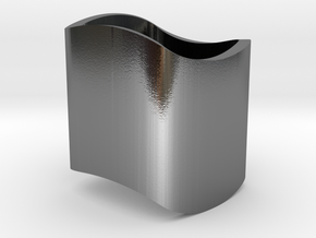 Ambiguous Cylinder Illusion in Polished Silver