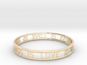 LOVE IS HAPPINESS IS LOVE - simple in 14K Yellow Gold