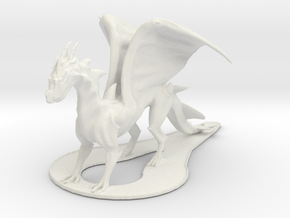 Sleek Dragon in White Strong & Flexible