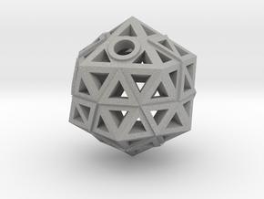 Brilliant Facets - Triangle Pendant in Aluminum