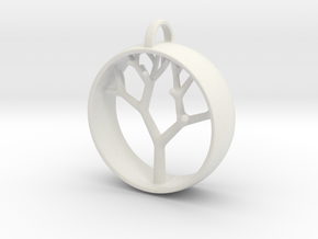 Natural Collection - Tree Pendant in White Natural Versatile Plastic