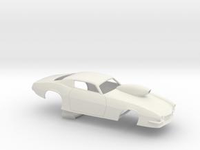 1/16 Pro Mod 73 Camaro Flat Hood W Scoop in White Natural Versatile Plastic
