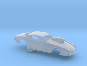 1/43 Pro Mod 73 Camaro Flat Hood W Scoop in Smooth Fine Detail Plastic
