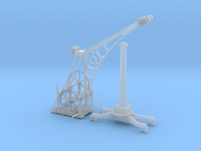 1:32 or Gn15 Railway Hand Crane in Smooth Fine Detail Plastic