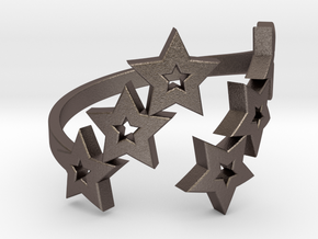 Ring Star 1011 in Polished Bronzed Silver Steel