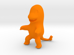 Charmander in Orange Processed Versatile Plastic