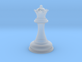 Chess Queen in Smooth Fine Detail Plastic