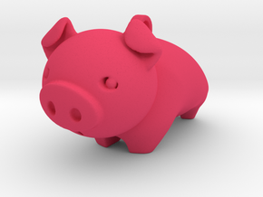Cute Piggy in Pink Processed Versatile Plastic