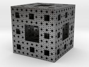 Sierpinski Cube in Natural Silver