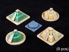 SOL Pyramids & Altar (9 pcs) in White Strong & Flexible Polished