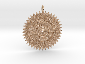 Looking at the Sun Pendant in 14k Rose Gold Plated Brass
