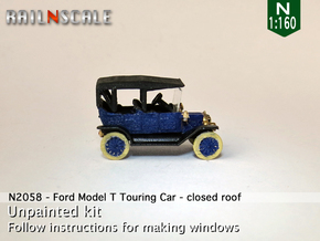 Ford Model T - closed roof (N 1:160) in Smooth Fine Detail Plastic