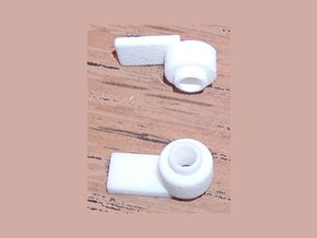 Truck adaptor for Walthers trucks in White Natural Versatile Plastic