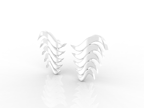 Fashion Fire Earring 1008 in Rhodium Plated Brass