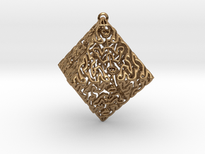 lovely octaedron in Natural Brass