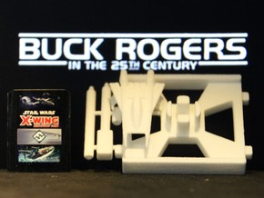 Thunder Fighter, X-Wing Base (Buck Rogers), 1/270 in White Natural Versatile Plastic